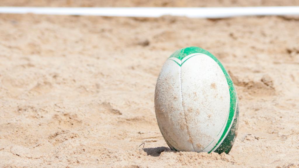 Beach Rugby.