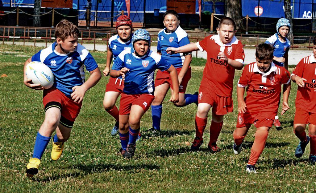 """Festivalul de rugby pentru copii Gheorghe """"Gogu"""" Nica a avut loc la București."""